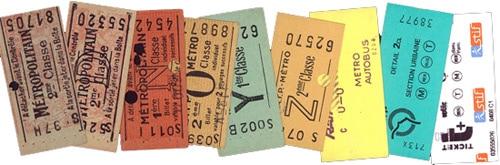 Un ticket  de métro parisien, rempli d'histoires.