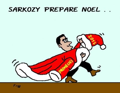 Sarkozy  prépare  Noël  . .