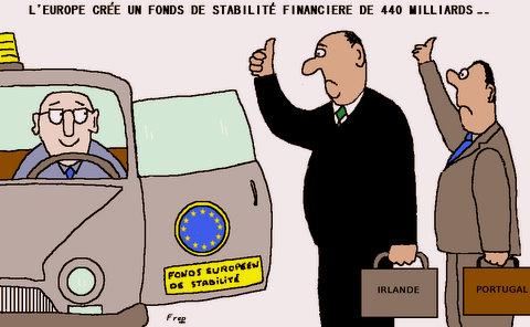Création d'un fonds européen de stabilité financière de 440 milliards d'euros . .