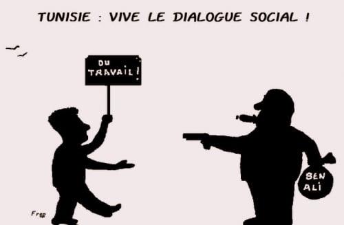 TUNISIE  :  Vive le dialogue social   !