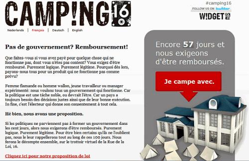 Belgique : 256 jours, 154 000 campeurs déjà !