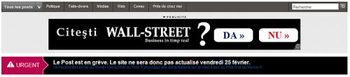 Monde interactif : pendant la grève, la pub s'actualise…
