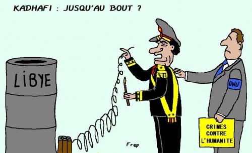 Kadhafi  : jusqu'au bout  ?