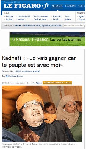 Figaro : l'entretien « servile » avec Kadhafi