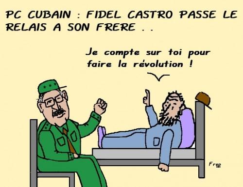 PC cubain : Fidel Castro passe la main à son frère . .