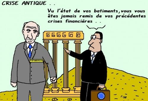 La Grèce  toujours malade  de  sa  dette . .
