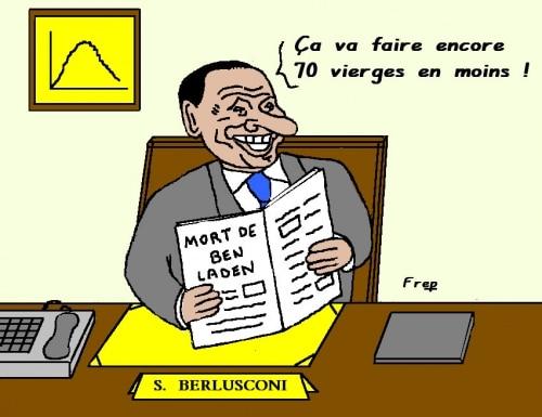 La  mort  de  Ben  Laden  vue  par  Berlusconi . .
