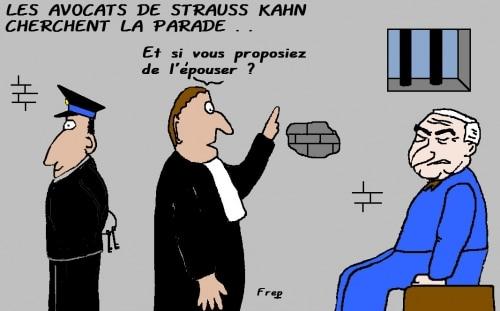 Strauss Kahn en prison : ses avocats cherchent la parade . .