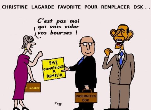 Christine  Lagarde  favorite  pour  remplacer  DSK . .