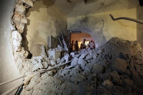 Saif al ARAB et trois petits enfants de Kadhafi tués  par un raid de l'OTAN