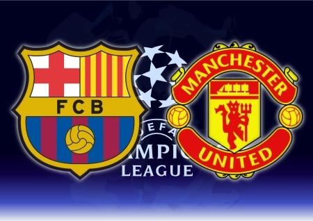 Finale de la league de Champions, Manchester United et Fc Barcelone à Wembley.