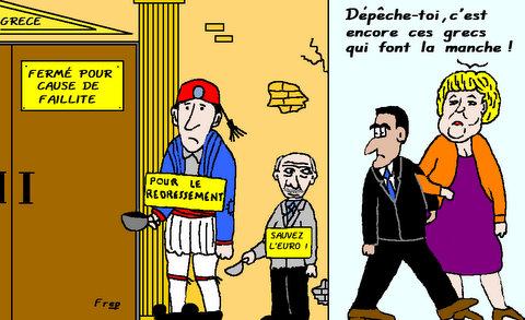 LES  GRECS  FONT  LA  MANCHE . .