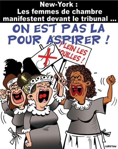 DSK se fait «chambrer» devant le tribunal …