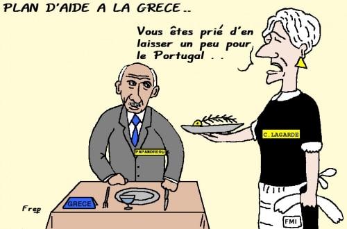 Le FMI  et  le plan d'aide  à la  Grèce . .