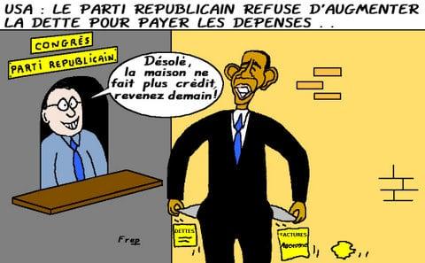 La  crise  de  la  dette  américaine  continue . .