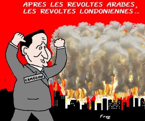 Après les révoltes arabes , les révoltes londoniennes . .
