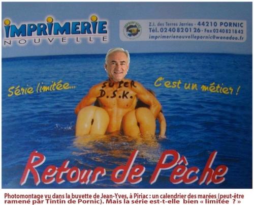 DSK à la plage, de retour en France