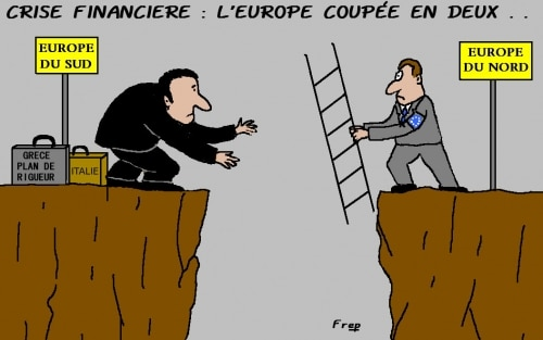CRISE  FINANCIERE :  L'EUROPE  COUPEE  EN   DEUX