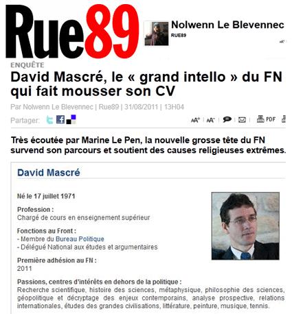 FN : Mascré, l'Allègre de Marine Le Pen
