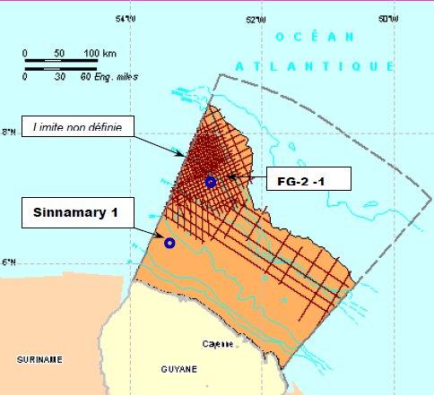 Du pétrole au large de la Guyane