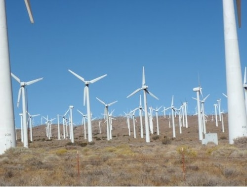 Les wind Farms ou champ d'éoliennes aux Etats-Unis