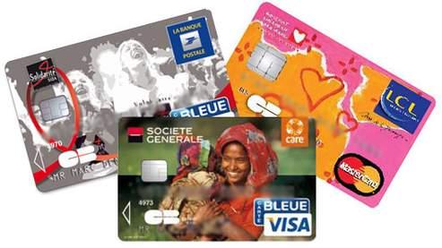 Des cartes bancaires pour soutenir des associations.
