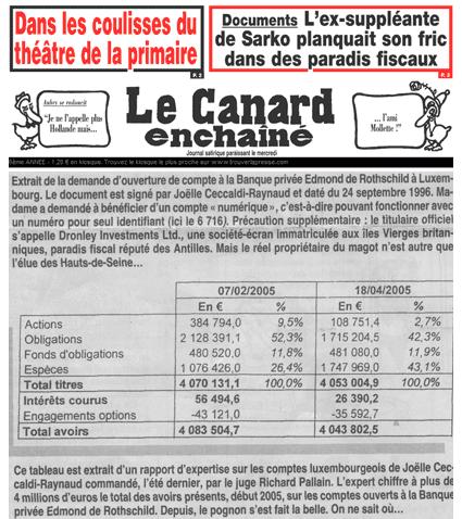 Sarkozy cerné par les adeptes des paradis fiscaux