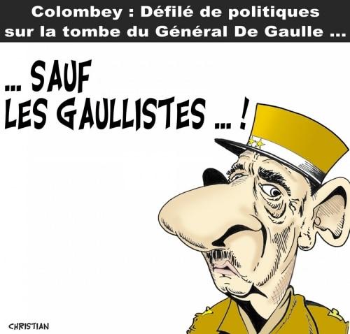 Sur la tombe de De Gaulle …
