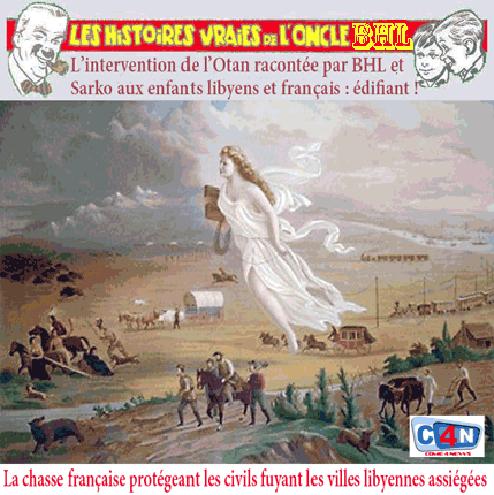 L'expédition française racontée par BHL
