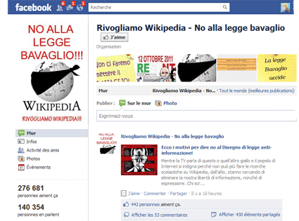 Wikipedia Italie : la résistance s'organise
