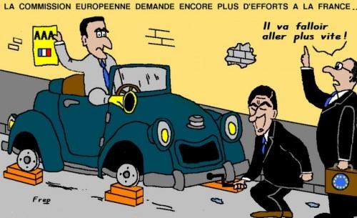 La Commission  européenne  demande  encore  plus  d'efforts à la France !