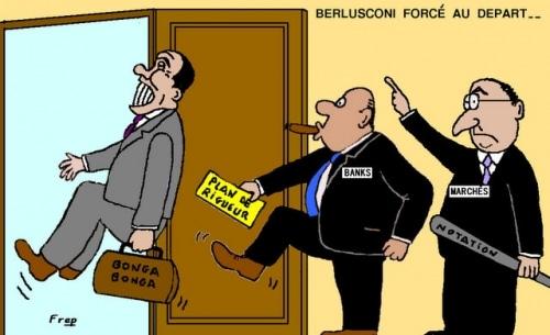 Berlusconi  contraint  à  la  démission  !