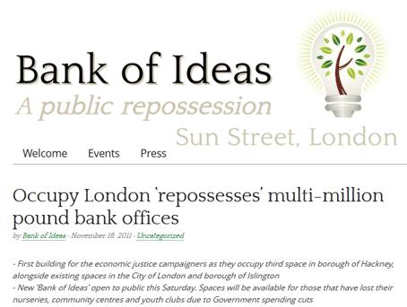 Occupy London squatte la banque UBS