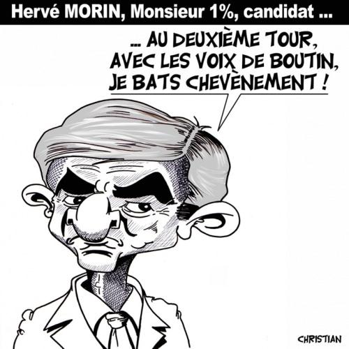 On est sauvés … Hervé MORIN est candidat !