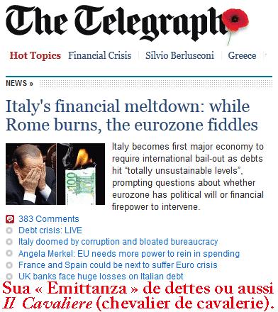 Zone euro : après l'Italie, la France… puis l'éclatement