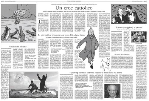 Tintin récupéré par le Vatican