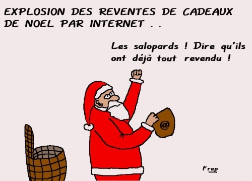 Cadeaux de Noel  :  explosion des reventes sur internet !