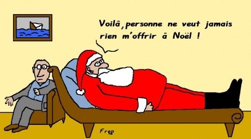 Bientot  Noel  ! Le père Noel a du vague à l'âme …
