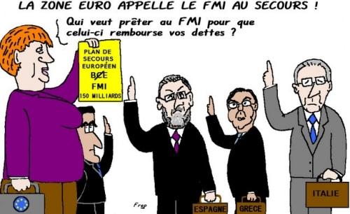 LE   FMI  AU  SECOURS  DE  L' EUROPE  !