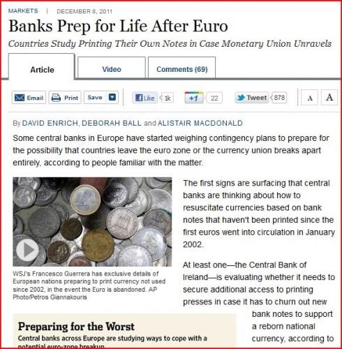 Les banques centrales se préparent-elles à l'après l'Euro ?