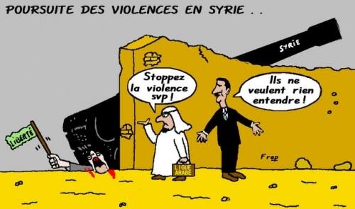 Poursuite  des  violences  en  Syrie . .