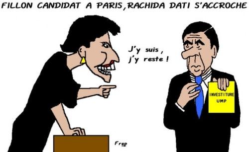 Fillon  candidat  à  Paris , Rachida  Dati  s'accroche . .