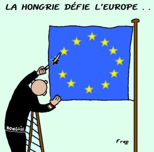 LA  HONGRIE  DÉFIE  L'EUROPE  .  .