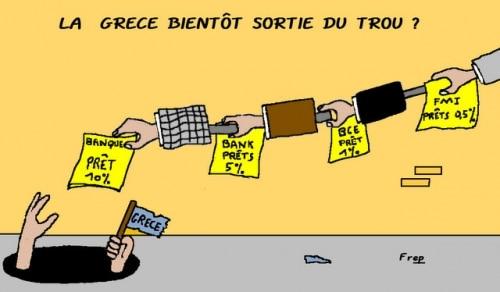 La  Grèce  bientot  sortie  du  trou  ?