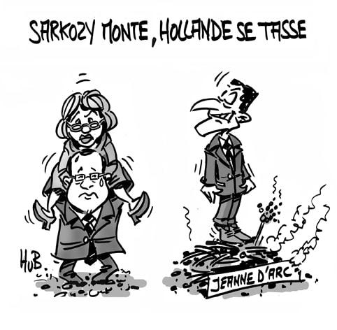 Sarkozy monte, Hollande se tasse