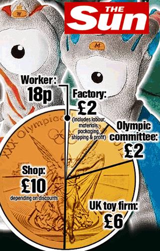 Sueur et pognon, c'est l'esprit olympique !