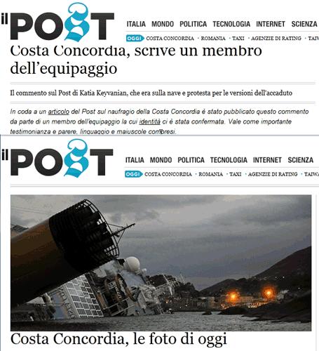 Concordia Costa : t'as l'bonjour du Franco (de port)