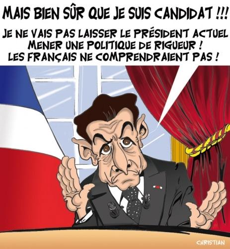 Le candidat SARKOZY critique le Président ! ….