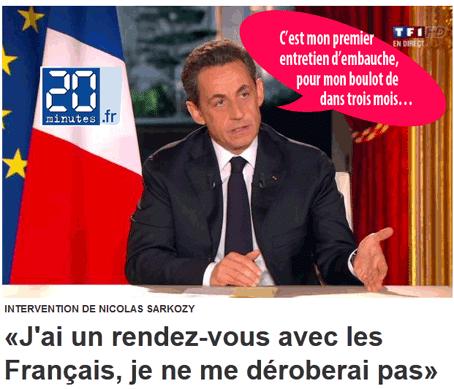 Sarkozy : un sens instantané du ridicule authentique
