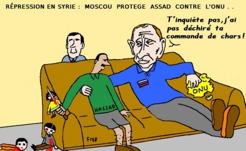 Répression sanglante en Syrie : Moscou protège  Hassad  contre  l'ONU !